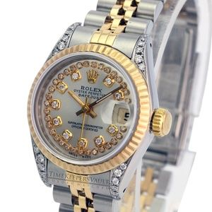Rolex Lady Datejust Silver String Diamond Dial